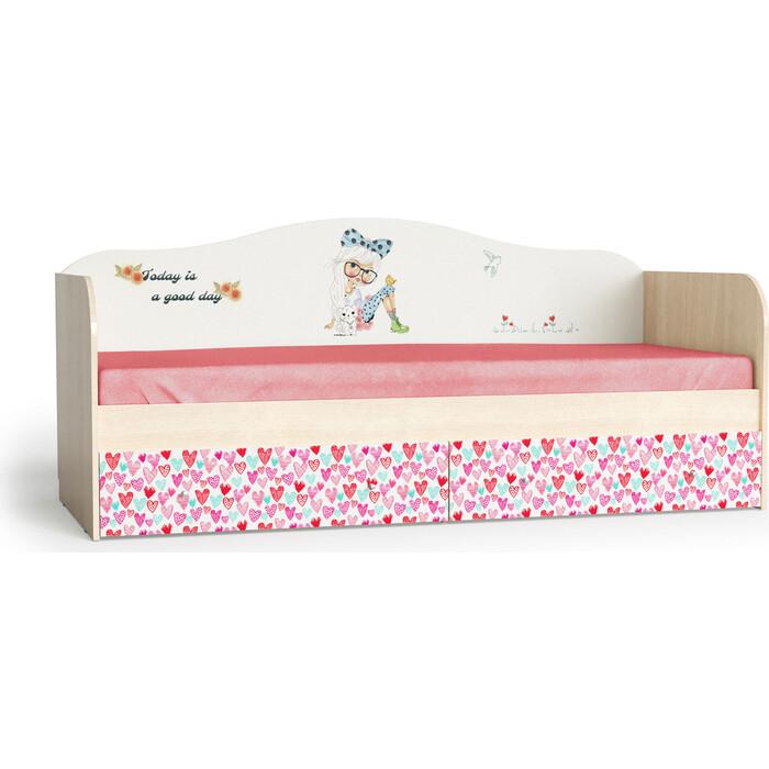 Мама Кровать для детской Девочки корпус шимо светлый