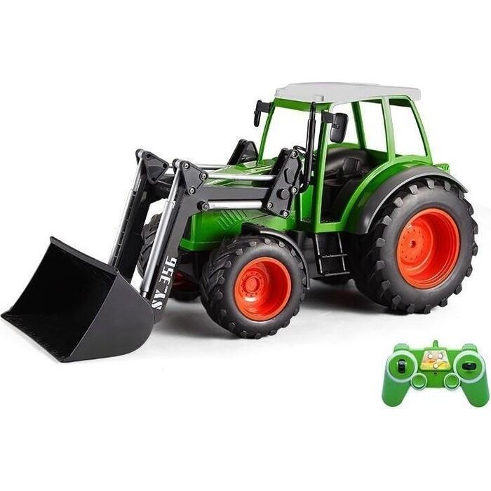 Радиоуправляемый сельскохозяйственный трактор Double Eagle с погрузчиком 1:16 2.4G - E356-003