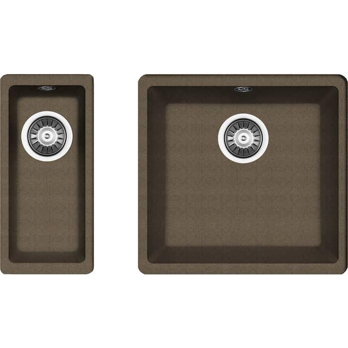 Кухонная мойка Florentina Вега 400/160 коричневый Fg (22.315.C0400.105 + 22.300.00160.105)