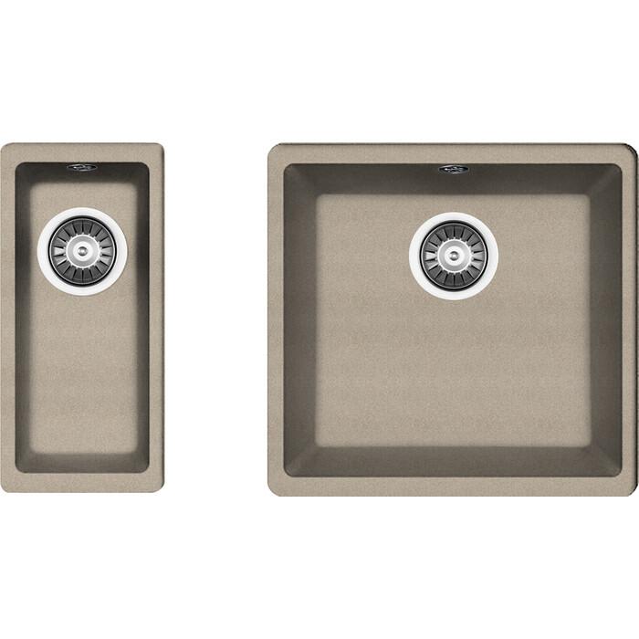 Кухонная мойка Florentina Вега 400/160 песочный Fg (22.315.C0400.107 + 22.300.00160.107)