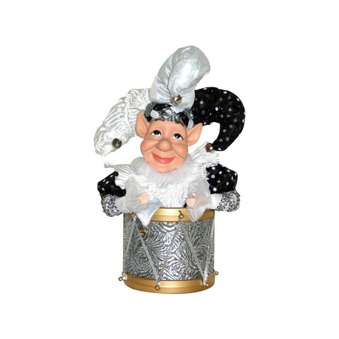 Игрушка под елку Snowmen шкатулка клоун на барабане 25см Е70517