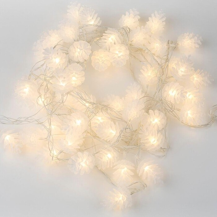 Гирлянда светодиодная Uniel Шишки 220V теплый белый ULD-S0500-050/DTA Warm White IP20 Pine Cones