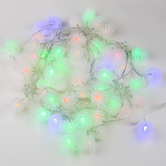 Гирлянда светодиодная Uniel шишки 220V разноцветный ULD-S0500-050/DTA Multi IP20 Pine Cones