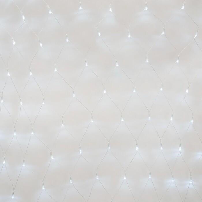 Гирлянда Uniel Светодиодная (UL-00007220) сетка 220V белый ULD-N1515-96/STK White IP44