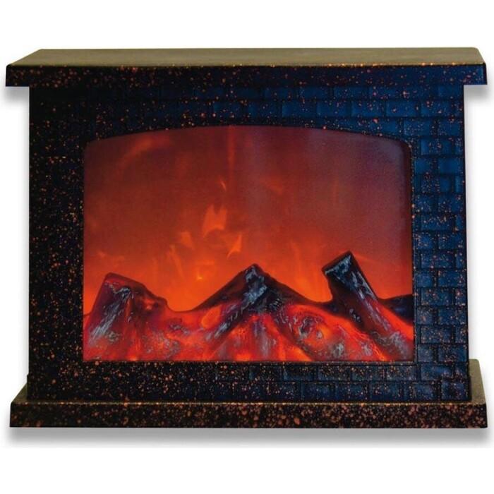 Фигурка Uniel светодиодная Камин 21x28 см (UL-00007291) ULD-L2821-005/DNB/Red Brown Fireplace