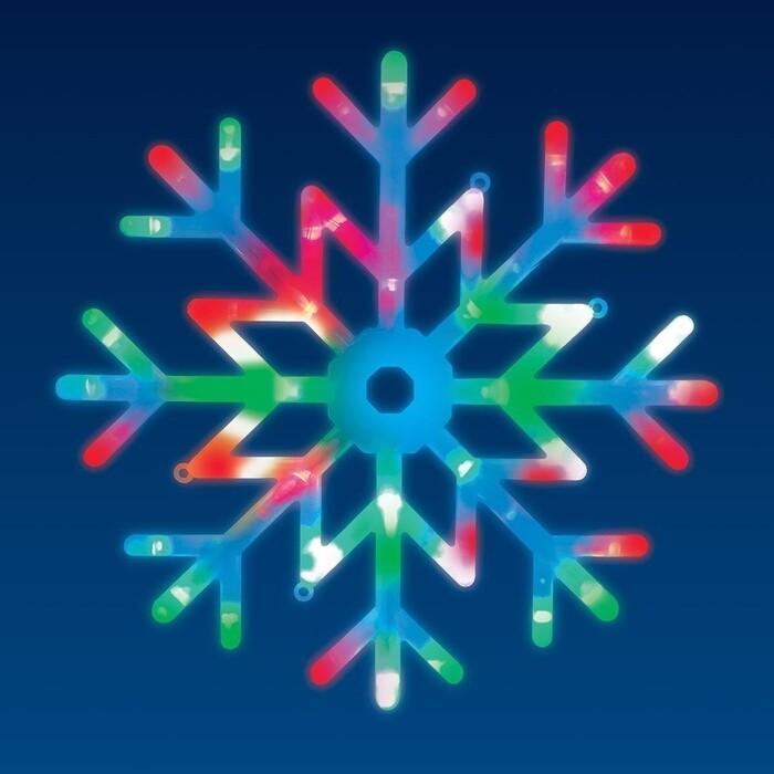 Светильник Uniel Подвесной светодиодный Снежинка (UL-00007250) ULD-H4040-048/DTA RGB IP20 Snowflake