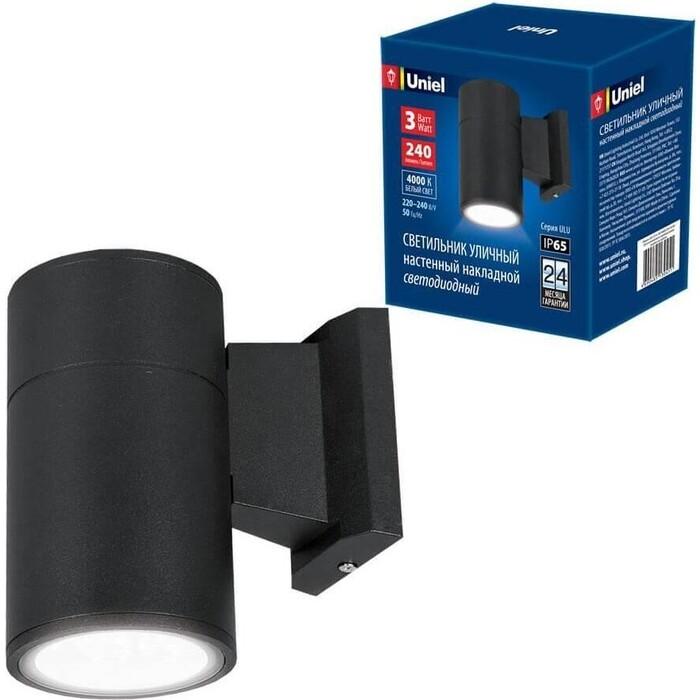 Светильник Uniel Уличный настенный светодиодный (UL-00006801) ULU-S21A-3W/4000K IP65 Black