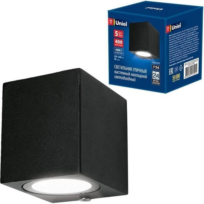 Светильник Uniel Уличный настенный светодиодный (UL-00006806) ULU-S05A-5W/4000K IP54 Black