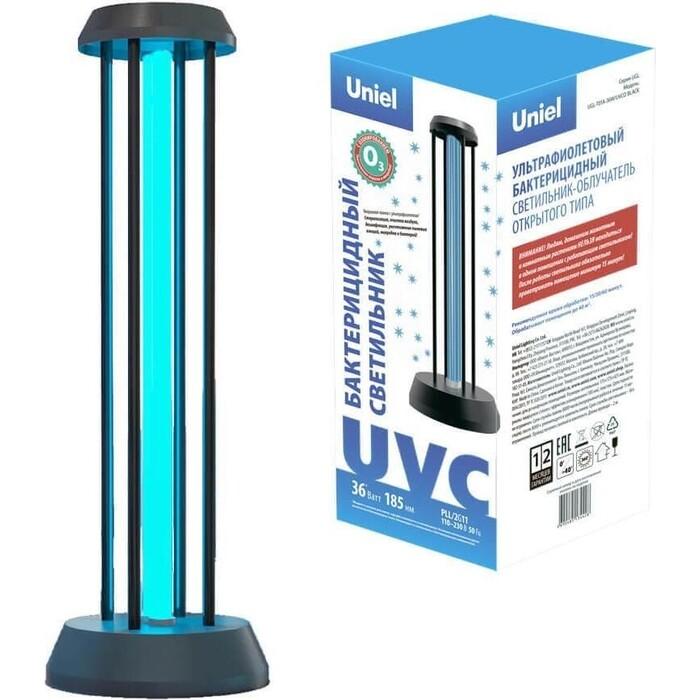 Настольная лампа Uniel Ультрафиолетовая бактерицидная (UL-00007264) UGL-T01A-36W/UVCO Black ультрафиолетовая бактерицидная лампа invin rg 40