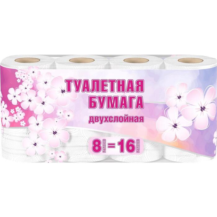 Туалетная бумага Veiro белая 2 слоя 8 рулонов