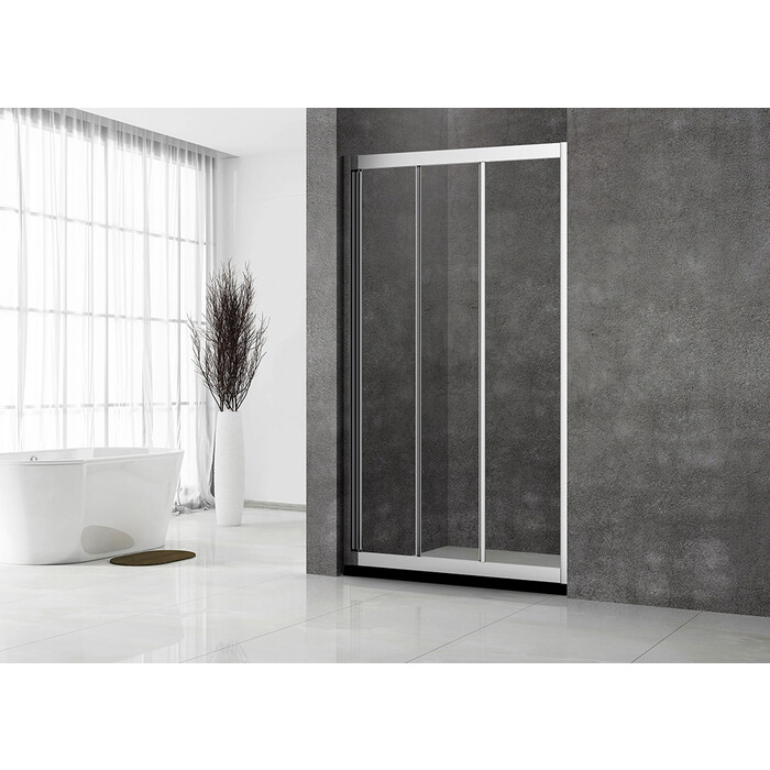 Душевая дверь Veconi Vianno 110x195 стекло прозрачное, профиль хром (VN31-110-01-C5)