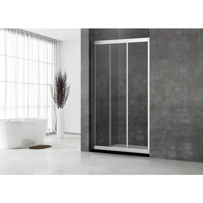 Душевая дверь Veconi Vianno 140x195 стекло прозрачное, профиль хром (VN31-140-01-C5)