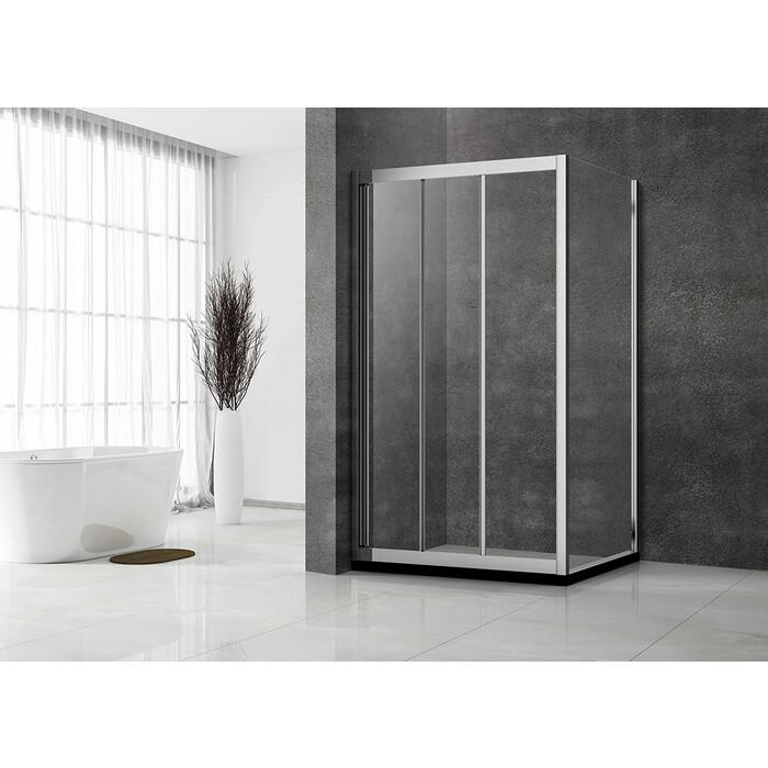 Душевой уголок Veconi Rovigo 110х70 стекло прозрачное, профиль хром (RV031-11070-01-C5)