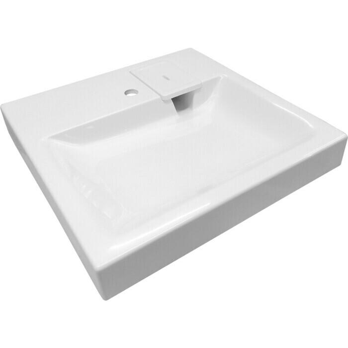Раковина над стиральной машиной Эстет Riga 60 на кронштейне, белая (4627183343036)