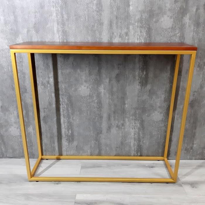 Фото - Напольная консоль Akur Loft Wington металлокаркас золото декор вишня напольная консоль akur loft sidney 1200 металлокаркас золото декор вишня