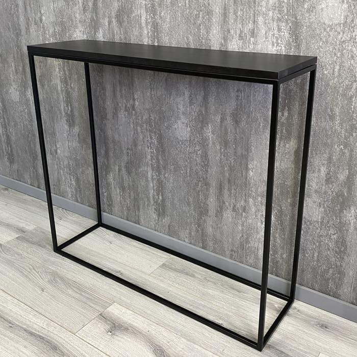 Напольная консоль Akur Loft Wington металлокаркас черный декор