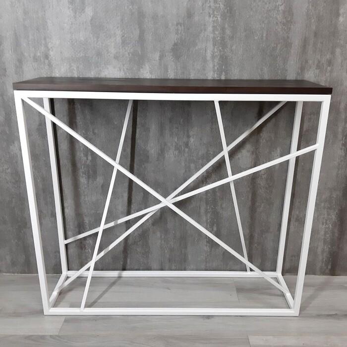 Фото - Напольная консоль Akur Loft Fullerton металлокаркас белый декор венге mark d fullerton greek sculpture