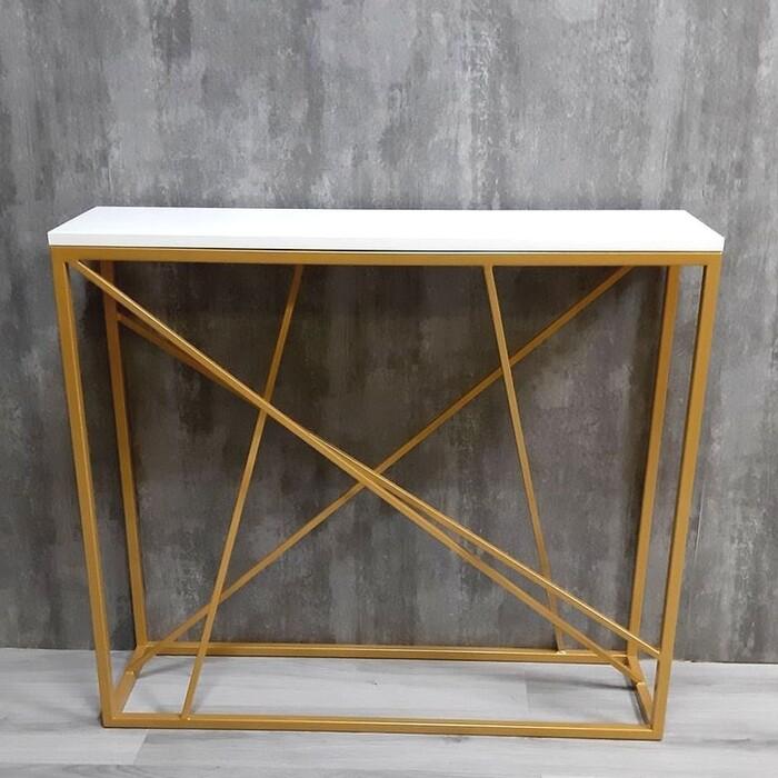 Фото - Напольная консоль Akur Loft Fullerton металлокаркас золото декор белый mark d fullerton greek sculpture