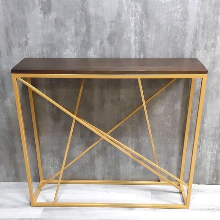 Фото - Напольная консоль Akur Loft Fullerton металлокаркас золото декор орех mark d fullerton greek sculpture