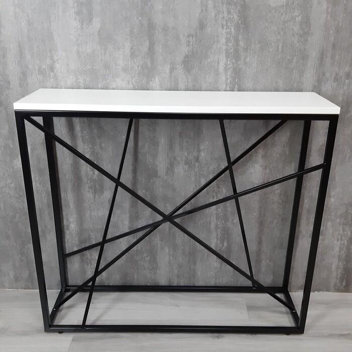 Фото - Напольная консоль Akur Loft Fullerton металлокаркас черный декор белый mark d fullerton greek sculpture