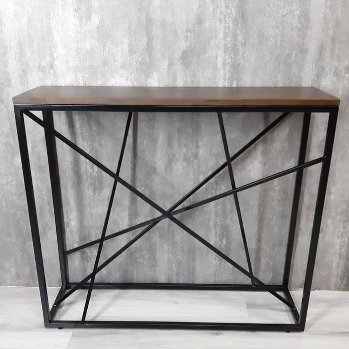 Фото - Напольная консоль Akur Loft Fullerton металлокаркас черный декор орех mark d fullerton greek sculpture