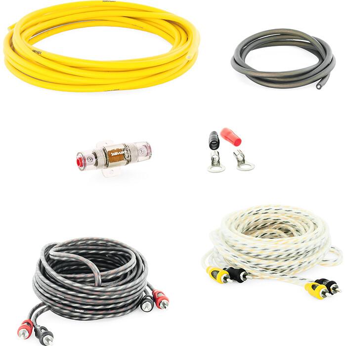 Провода SWAT PAC-F10 /набор проводов для подкл. 4х кан. усилителя 10Ga, ССА, блистер