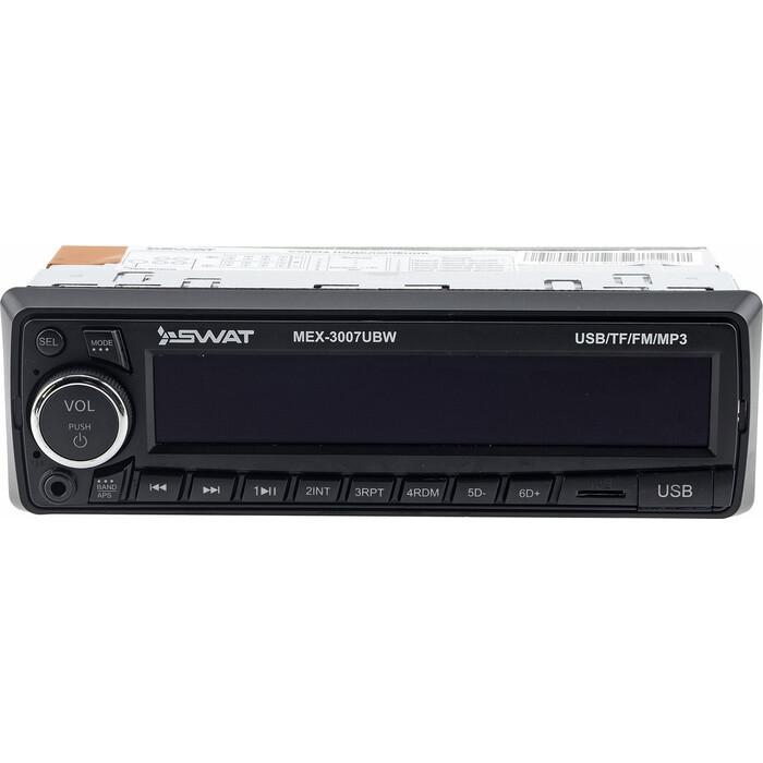 Автомагнитола SWAT MEX-3007UBW/1 din медиа ресивер,4х50 вт, MP3,USB,SD белые кнопки