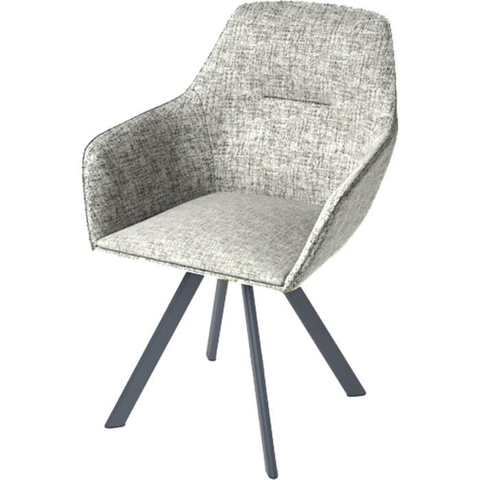 Стул Дебют мебель Ортон Луч маренго серый /Arta 500 светло-серый