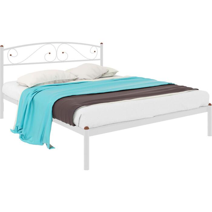 Кровать металлическая Милсон Вероника 200x120 белый