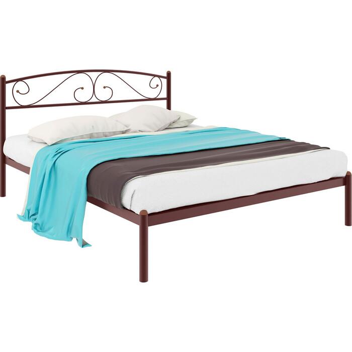 Кровать металлическая Милсон Вероника 200x120 коричневый