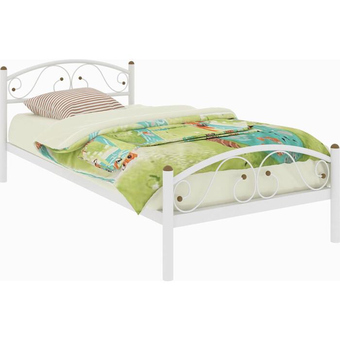 Кровать металлическая Милсон Вероника Plus 200x90 белый