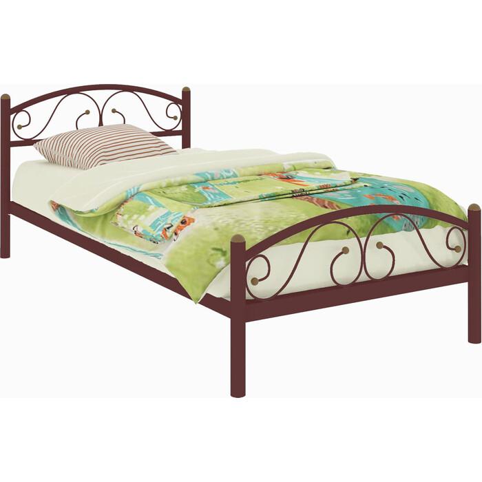 Кровать металлическая Милсон Вероника Plus 200x90 коричневый