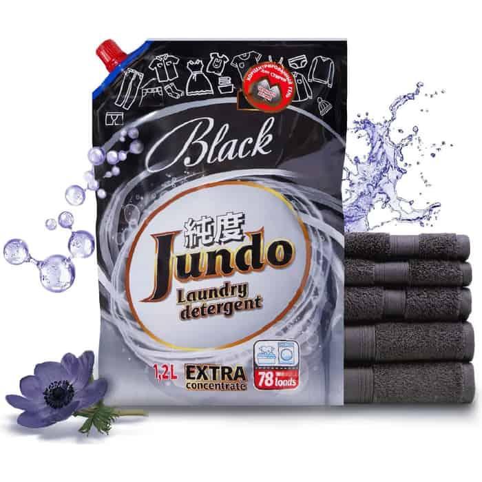 Гель для стирки Jundo Black концентрированный черного белья, запасной блок, 1,2 л, 78 стирок