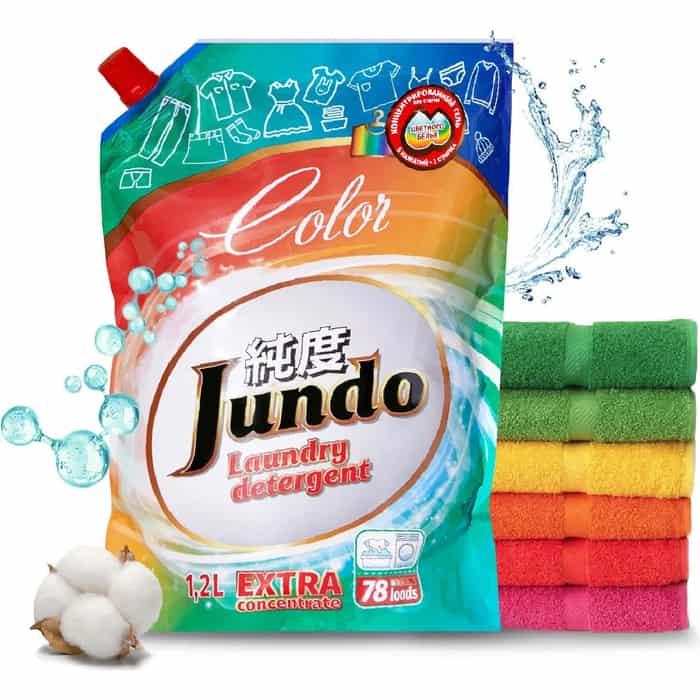 Гель для стирки Jundo Color концентрированный цветного белья, запасной блок, 1,2 л, 78 стирок