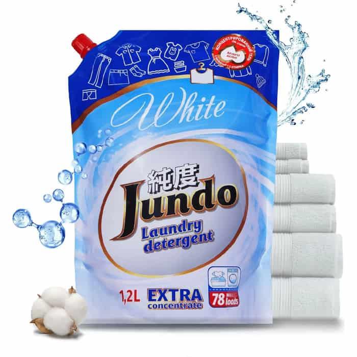 Гель для стирки Jundo White концентрированный белого белья, запасной блок, 1,2 л, 78 стирок