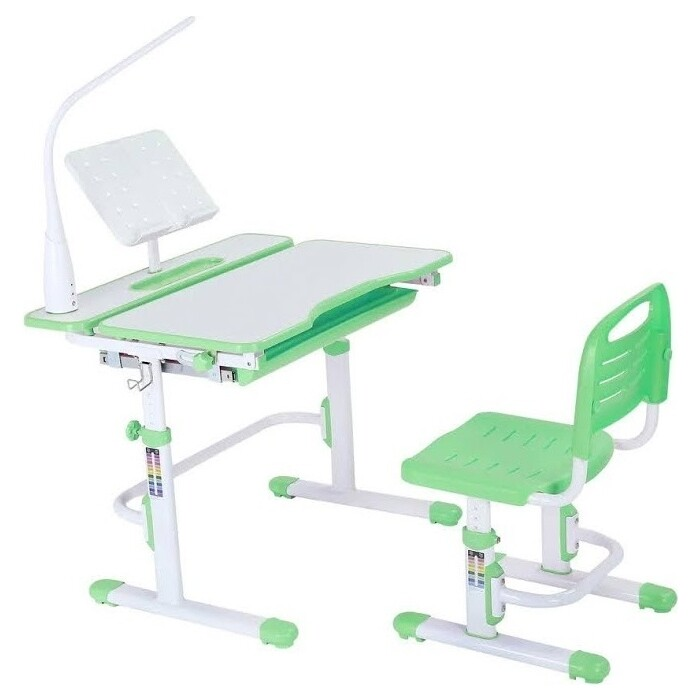 FunDesk Комплект парта + стул Botero green лампа L1