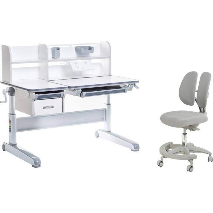 FunDesk Комплект парта Libro Grey + кресло Primo
