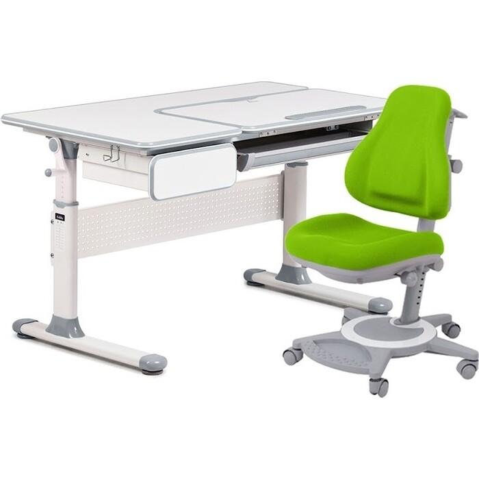 FunDesk Комплект парта Toru Grey + кресло Bravo Green