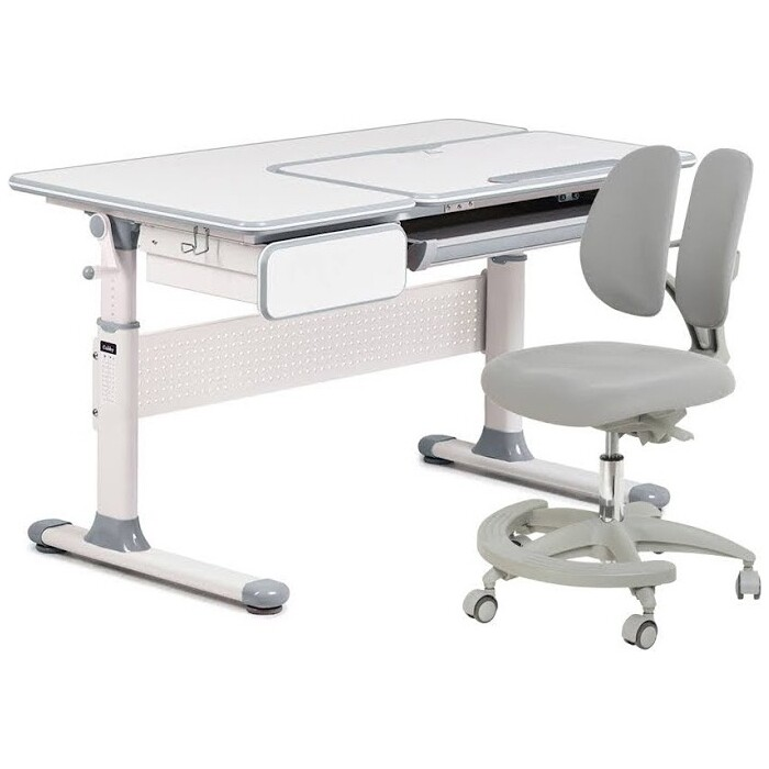 FunDesk Комплект парта Toru Grey + кресло Primo