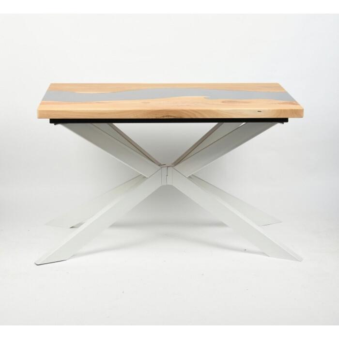 Обеденный стол Wisti Ривер натуральный/белый