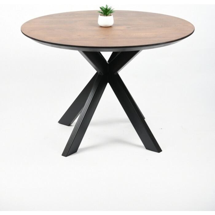 Обеденный стол Wisti Дублин 90 мореный дуб/черный