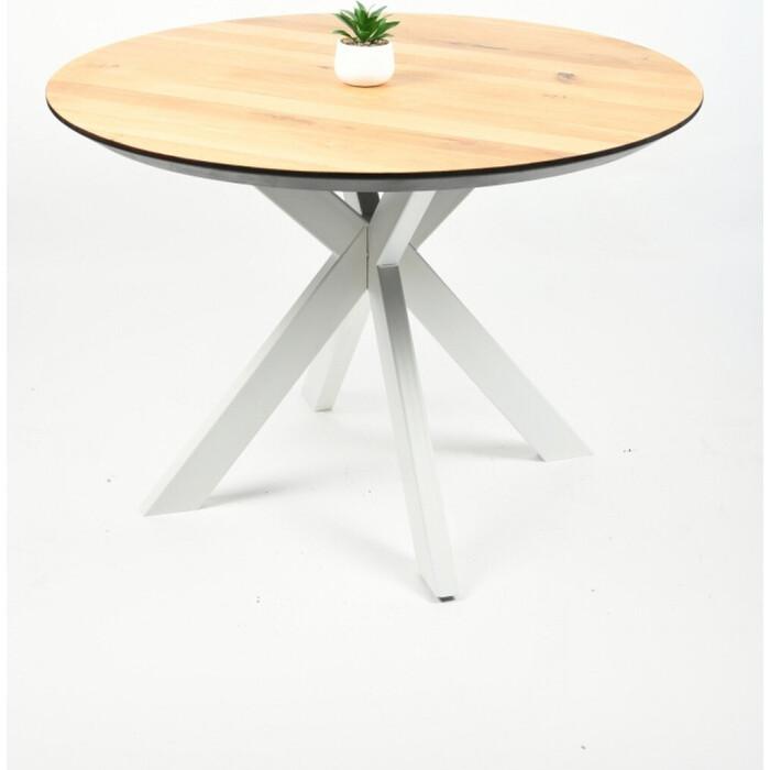 Обеденный стол Wisti Дублин 90 натуральный/белый