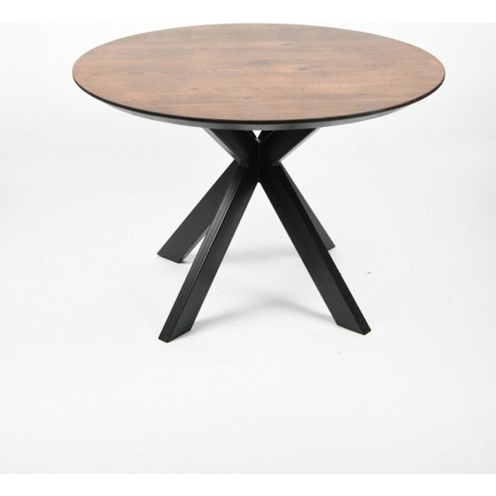 Фото - Обеденный стол Wisti Дублин 110 мореный/черный wisti журнальный стол ривер мореный черный