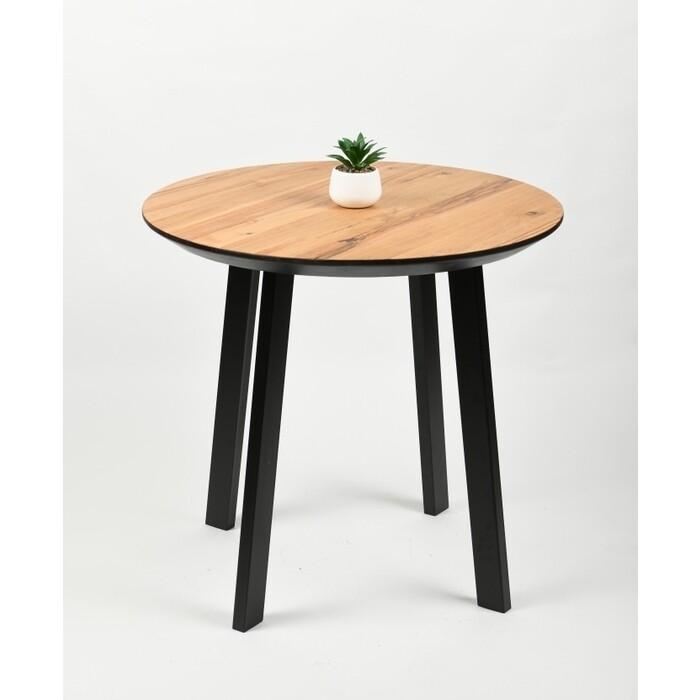 Обеденный стол Wisti Юта 80 натуральный/черный