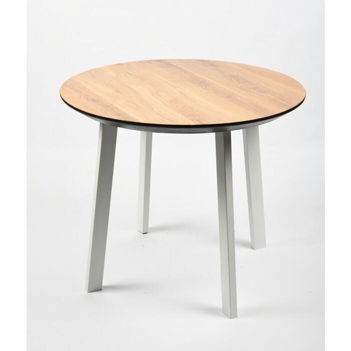 Обеденный стол Wisti Юта 110 натуральный/белый