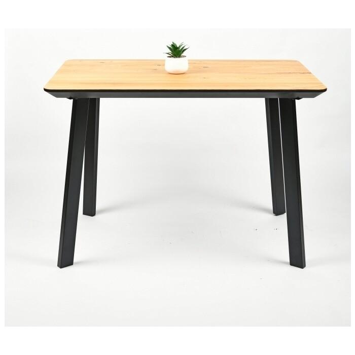 Обеденный стол Wisti Техас 120 натуральный/черный