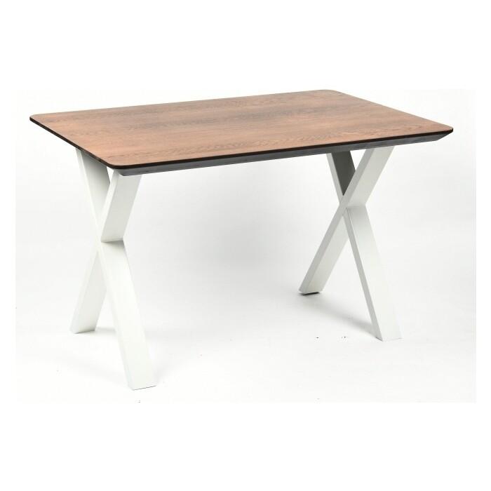 Обеденный стол Wisti Мэн 120 мореный/белый