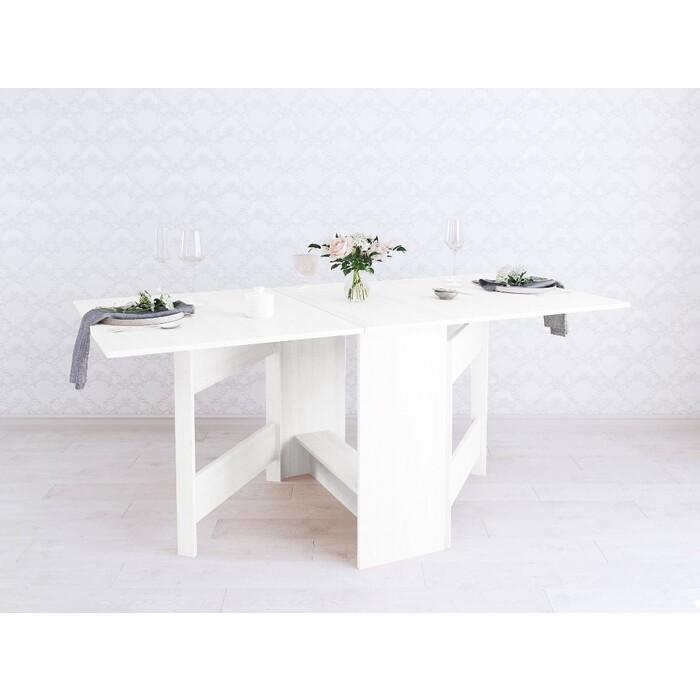 Фото - Wisti Стол-книжка белый 175 см wisti журнальный стол ривер мореный черный