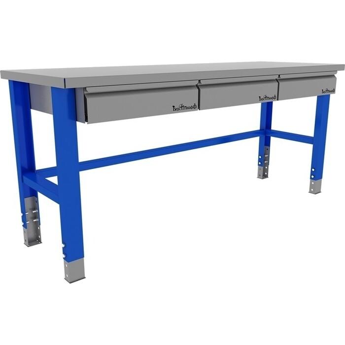 Стол металлический промышленный Верстакофф 2000 мм. PROFFI 115003