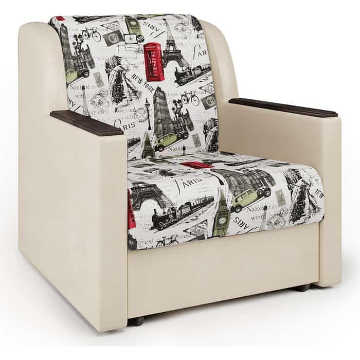 Кресло-кровать Шарм-Дизайн Аккорд Д велюр Париж и экокожа беж